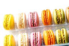 Macaroons on the light board Royalty Free Stock Images