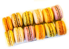 Macaroons on the light board Stock Photo