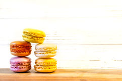 Macaroons on the light board Stock Image