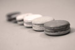 Macaroons in line Royalty Free Stock Photos