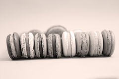 Macaroons in line Royalty Free Stock Images