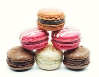 Macaroons over white background Royalty Free Stock Photos