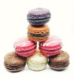 Macaroons over white background Stock Images