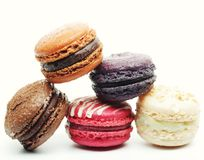 Macaroons over white background Stock Photo