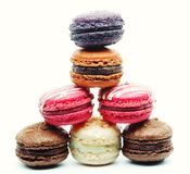 Macaroons over white background Royalty Free Stock Photo