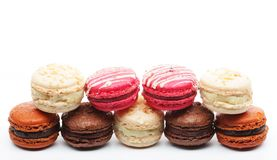 Macaroons over white background Stock Image
