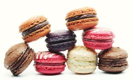 Macaroons over white background Stock Photography