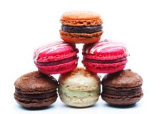 Macaroons over white background Royalty Free Stock Image