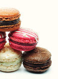 Macaroons over white background Royalty Free Stock Photography