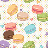 Macaroons pattern Royalty Free Stock Images