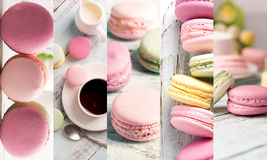 Macaroons photo collage Stock Photography