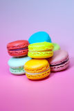 Macaroons  on pink Royalty Free Stock Images