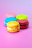 Macaroons  on pink Royalty Free Stock Image
