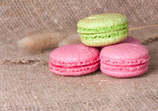 Macaroons in pink and Light Green Stock Image