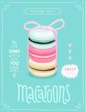 Macaroons plakat - szablon dla twój projekta Zdjęcia Stock