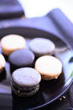 Macaroons in plate Royalty Free Stock Photo