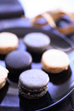 Macaroons in plate Royalty Free Stock Photography