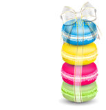Macaroons and ribbon Royalty Free Stock Image