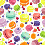 Macaroons Seamless Pattern Stock Photos