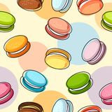 Macaroons seamless pattern Stock Photography