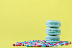 Macaroons selected focus toned Stock Photography