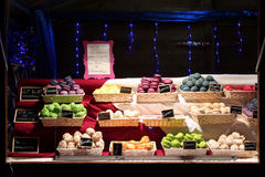 Macaroons are sold at the Christmas market of Vierzon (France) Royalty Free Stock Photos