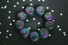 Macaroons with space pattern Stock Photography