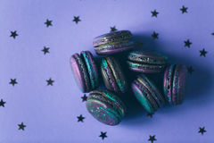 Macaroons with space pattern Royalty Free Stock Photos