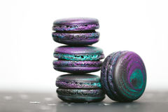Macaroons with space pattern Stock Images