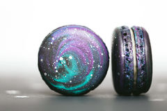 Macaroons with space pattern, macro Stock Image