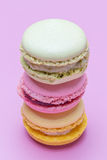 Macaroons stacked Stock Images