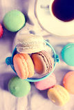 Macaroons time Royalty Free Stock Photography