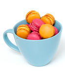 Macaroons in a up Stock Photography