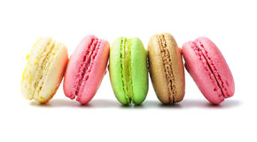 Macaroons on white background Stock Photography
