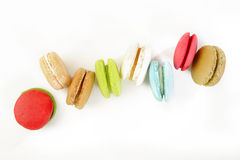 Macaroons on white background Stock Images
