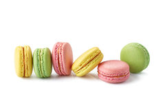 Macaroons on white Royalty Free Stock Photo