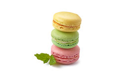 Macaroons on white Royalty Free Stock Photography