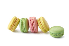 Macaroons on white Stock Photo