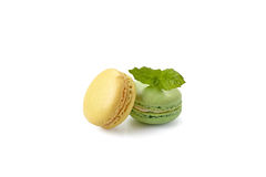 Macaroons on white Royalty Free Stock Photos