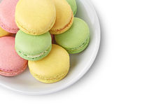 Macaroons on white plate Royalty Free Stock Photography