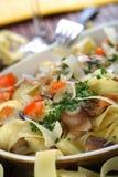 Macarrão com cogumelos Foto de Stock