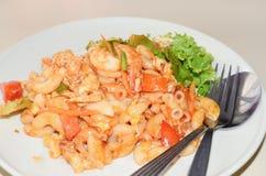Macarrão com molho de tomate Fotografia de Stock Royalty Free