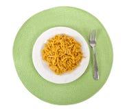 Macarrão e queijo Fotos de Stock Royalty Free