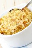 Macarrão e queijo Fotografia de Stock
