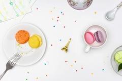 Macarrones coloridos imagen de archivo libre de regalías