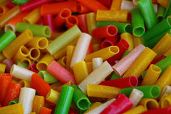Macarrones coloridos Imagenes de archivo