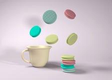 Macarrones coloridos foto de archivo