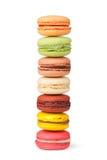 Macarrones coloridos sabrosos imagen de archivo