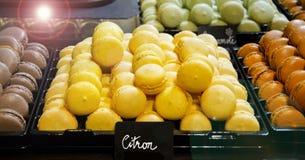 Macarrones franceses coloreados Imagen de archivo