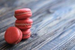 Macarrones franceses dulces y coloridos Imagen de archivo